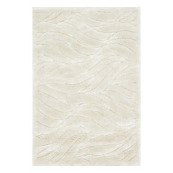"Loloi Rugs - Loloi Rugs Dream Shag Collection - Ivory, 5'-2"" x 7'-7"" - Quite possibly one of the thickest shags available, Dream Shag is designed to add supreme comfort to the look and feel of any home. The pile consists of thick twisted polypropylene yarns that measure 1.5 inches in length and are densely packed. The result is a shag that's plush, thick, and comfortable. And since it's made in Egypt using power looms, any Dream Shag you order is made with precise design and pile height accuracy."
