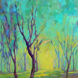 """""""Colors of Spring 6"""" Artwork - Original acrylic painting on canvas"""