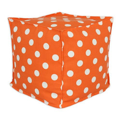 Chooty & Co. - Chooty & Co. Polka Dot 17 x 17 in. Outdoor Pouf - BP17S8004 - Shop for Ottomans and Footstools from Hayneedle.com! Cute and comfy the Chooty & Co. Polka Dot 17 in. Square Outdoor Ottoman Pouf brings practical charm to any space. It s perfect indoors or on your patio or deck. This pretty pouf features a cover made of a cotton and poly blend with a polka dot pattern. Ideal as a comfy seat or a place to kick up your feet its soft Styrofoam beads and color options make it a welcome accessory to any setting.About Chooty & Co.A lifelong dream of running a textile manufacturing business came to life in 2009 for Connie Garrett of Chooty & Co. This achievement was kicked off in September of '09 with the purchase of Blanket Barons well known for their imported soft as mink baby blankets and equally alluring adult coverlets. Chooty's busy manufacturing facility located in Council Bluffs Iowa utilizes a talented team to offer the blankets in many new fashion-forward patterns and solids. They've also added hundreds of Made in the USA textile products including accent pillows table linens shower curtains duvet sets window curtains and pet beds. Chooty & Co. operates on one simple principle: What is best for our customer is also best for our company.