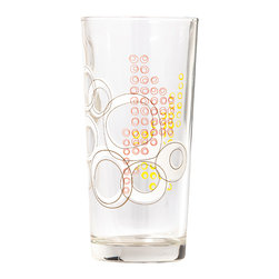 Working Class Studio - Kay Collection - Glass Tumbler Set of 6, Slate - Bottoms up! With their layered circular pattern, these 15-ounce tumblers have the design pizzazz to enhance your table settings. Use them at every meal to elevate your daily dining experience.