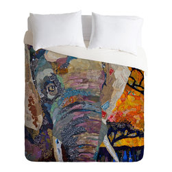 DENY Designs - Elizabeth St Hilaire Nelson Elephant Duvet Cover - Turn your basic, boring down comforter into the super stylish focal point of your bedroom. Our Luxe Duvet is made from a heavy-weight luxurious woven polyester with a 50% cotton/50% polyester cream bottom. It also includes a hidden zipper with interior corner ties to secure your comforter. It's comfy, fade-resistant, and custom printed for each and every customer.