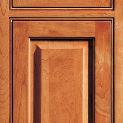 """Dura Supreme Cabinetry - Dura Supreme Cabinetry Arcadia Classic Inset Cabinet Door Style - Dura Supreme Cabinetry """"Arcadia Classic"""" inset cabinet door style in Cherry shown in Dura Supreme's """"Harvest"""" with the concealed inset hinge option."""