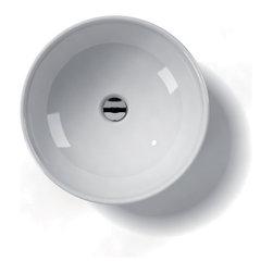 "WS Bath Collections - LVO 600 Vessel Sink 17.7"" - Ceramica by WS Bath Collections 17.7 � x 5.9 Above The Counter Bathroom Sink/ Washbasin in ceramic white"