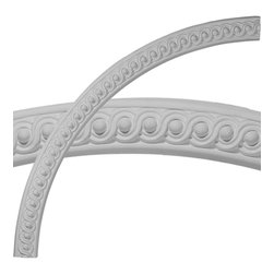 """Ekena Millwork - Seville Bead & Barrel Ceiling Ring (1/4 of complete circle) - 57 1/4""""OD x 53 3/4""""ID x 1 3/4""""W x 1 1/4""""P Seville Bead & Barrel Ceiling Ring (1/4 of complete circle). Ceiling rings are often used in conjunction with ceiling medallions in highlighting focal points like chandeliers and ceiling fans. However, ceiling rings can als be used on the wall to accent mirrors, photos and photo frames."""