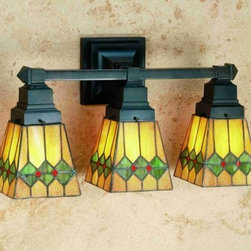 Meyda - 20 Inch W Martini Mission 3 Lt Vanity Wall Sconces - Color Theme: Ha 59 Flame
