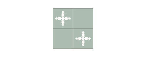 """""""Cruzada"""" 8x8 Encaustic Cement Tiles - """"Make every space Count"""" with Rustico Tile and Stone, wholesale flooring, global shipping."""