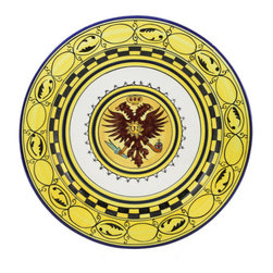 Artistica - Hand Made in Italy - Palio Di Siena: Aquila Wall Plate (14D.) - Palio Di Siena Collection: