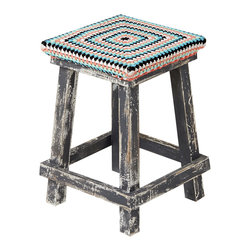 Little Crochet Stool - I would tuck this cute crochet-covered stool into the living room, where it can serve triple-duty as footstool, side table and extra seat. But it would also make a fun nightstand. You decide!