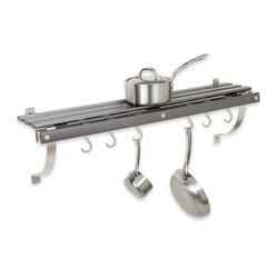 Wall Mounted Pot Rack, Gray