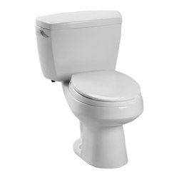 TOTO - Toto Carusoe Round Toilet with Bolt-Down Lid, Colonial White (CST715B#11) - TOTO Carusoe Round Toilet with Bolt-Down Lid, Colonial White (CST715B#11)