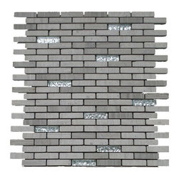 GL Stone - Tumbled Brick Mix Silver Background Glass Mosaic Tile( 1 Carton/ 11 Sheets) - Wooden grey Bricks Pattern Marble Mosaic Tile is a great way to enhance your interior decor. This brick mosaic tile is constructed from durable, impervious marble material, comes in tumbled, honed and is suitable for installation on floors, walls and in commercial and residential spaces such as bathrooms, backsplash  and kitchens.