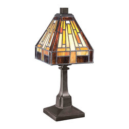 Quoizel Lighting - Quoizel TF1018TVB Stephen Vintage Bronze Table Lamp - 1, 25W B10 Candelabra