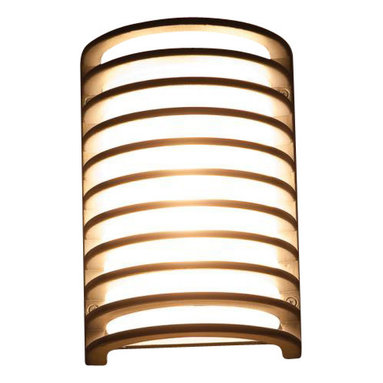 Joshua Marshal - Ribbed Frosted 1 Light Ambient Lighting Marine Grade - Ribbed Frosted 1 Light Ambient Lighting Marine Grade
