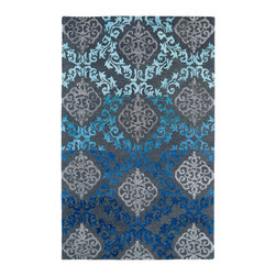Kaleen - Kaleen Divine Collection Div04-100 8'X11' Ice - The Divine collection features some of the most beautiful ombre patterns in the world today. A new twist on a traditional masterpiece, each rug is hand-tufted in India of 100% wool. Accented with a striking touch of viscose, these amazing highlights of detailed pattern to each and every rug will leave you feeling absolutely divine.