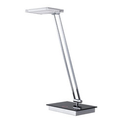 Cal Lighting - Cal Lighting BO-2232Desk 5W Led Desk Lamp With Touch Dimmer - 5W LED Desk Lamp W/Touch Dimmer