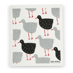 Swedish Dishcloth, Chicken & Hen Designs, Hens - THE SWEDISH ECO-FRIENDLY DISHCLOTH: The dry sponge cloth was invented in 1949 by the Swedish engineer Curt Lindquist, who discovered that a mixture of natural cellulose (wood pulp) and cotton can absorb an incredible 15 times its own weight in water.