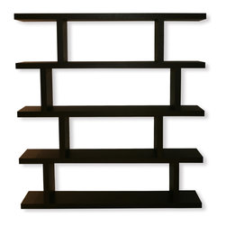 Temahome - Temahome Step Shelving, Wenge, High - A shelving unit that works just as well as a room divider .