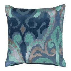 "Surya - Surya 18 x 18 Decorative Pillow, Multicolored (AR075-1818P) - Surya AR075-1818P 18"" x 18"" Decorative Pillow, Multicolored"