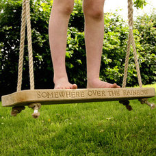 Garden swing - Wooden garden swings - Children garden furniture - Hen And Hammoc