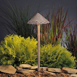 """Kichler - Kichler 15443OB Lace Olde Brick Path & Spread Light 15443OB - Olde Brick finishBulb Included: Yes Bulb Type: S-8 Collection: Lace Finish: Olde Brick Height: 22"""" Number of Lights: 1 Socket 1 Base: Wedge Socket 1 Max Wattage: 24 Style: Transitional Type: Path Light Voltage: 12 Volt Wattage: 24.4 Width: 8"""""""