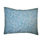 SheetWorld - SheetWorld Twin Pillow Case - Percale Pillow Case - Blue Breeze - Made in USA - Pillow case is made of a durable all cotton percale material. Fits a standard twin size pillow. Features a Blue Breeze print.