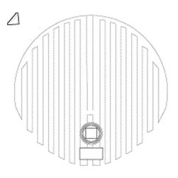 """WarmlyYours - Mirror Defogger 25""""W x 25""""L Circle - Previously available only in spas or luxury hotels, now you can enjoy the clarity of a fog free mirror in your master bathroom. WarmlyYours electric mirror defogger transmits gentle warmth across the mirror's surface to prevent moisture from forming during bathing or showering. This mirror defogger comes ready to install in several shapes and sizes. Self-adhesive backing allows easy application to any wall-hung mirror in just minutes. Pre-attached power leads conveniently connect to your bathroom's 120-volt lighting fixture. The ultra-thin heating film draws only a minimal amount of energy and operates at a constant, regulated temperature of 104ºF (40ºC) to provide a safe, economical way to keep mirrors fog-free. This is suitable for dry location only."""