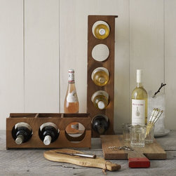 Wooden Wine Rack - Show off your best wine bottles up, down or across! These interlocking acacia wine racks are also easily stackable, so you can collect them as your wine collection expands.