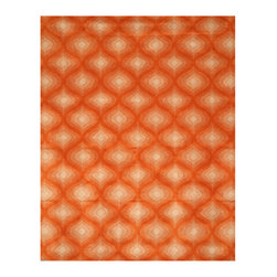 EORC - T114OR Orange Hand Tufted Wool Orange Paris Rug, 7'9 x 9'9 - Elevate your room by introducing a dash of color with this Beautiful wool rug.  Handmade quality and contemporary styling make this rug a perfect choice.