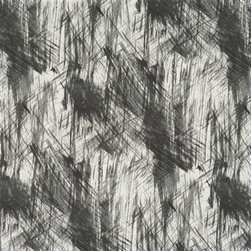 Walls Republic - Brush Stroke Black R2379 - Brush Stroke is abstract contemporary brushed paint patterned wallpaper. In a range of colours it will add the look of textured paint to your walls. Use it to make an off-beat statement in your living room.