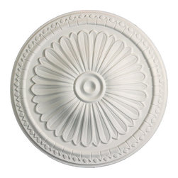 uDecor - MD-5188 Ceiling Medallion - Ceiling medallions and domes are manufactured with a dense architectural polyurethane compound (not Styrofoam) that allows it to be semi-flexible and 100% waterproof. This material is delivered pre-primed for paint. It is installed with architectural adhesive and/or finish nails. It can also be finished with caulk, spackle and your choice of paint, just like wood or MDF. A major advantage of polyurethane is that it will not expand, constrict or warp over time with changes in temperature or humidity. It's safe to install in rooms with the presence of moisture like bathrooms and kitchens. This product will not encourage the growth of mold or mildew, and it will never rot.