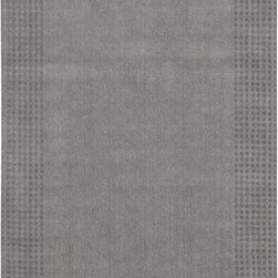 """Kathy Ireland - Kathy Ireland Kathy Ireland Cottage Grove KI700 8' x 10'6"""" Steel Rug - Welcome effortless harmony into your home with the beautifully textured Kathy Ireland Cottage Grove wool rug, glowing in rich, sunlit tones of deeply pigmented terracotta. The wide self-border in a tonal dot pattern adds subtle contrast and finesse."""