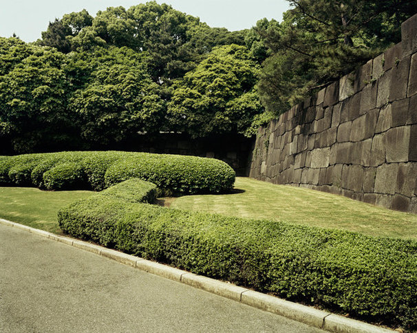 Contemporary Artwork Imperial Palace Gardens with Wall, Tokyo by Emily Shur