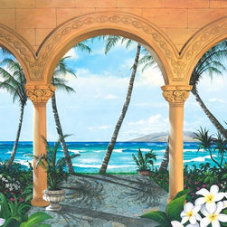 Murals Your Way - Wailea Walkway Vinyl Wall Decal, Wall Art - Painted by Scott Westmoreland, the Wailea Walkway Vinyl Wall Decal from Vinyl Wall Decals Your Way wil be a great addition to any room in your home