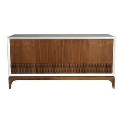 ecofirstart - Contemporary Mexican Credenza - Totally modern but with nods to midcentury design, this sleek credenza will house your dishes with sophistication. Designed by Mexican designer Sebastian Lara, this handmade sideboard is crafted from walnut, with high gloss lacquered wood panels, for the refined look your dining room deserves.