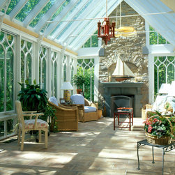 Conservatory Interior with Fireplace -