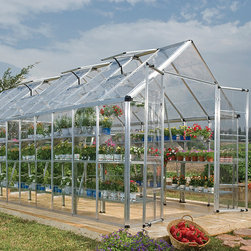 Palram - Palram Silver 8x20-foot Snap and Grow Greenhouse - Keep your tasty treats in the sun all year long with this awesome greenhouse. This greenhouse features SmartLock connectors and a unique door and window closure system.