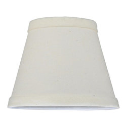 Meyda Tiffany - Fabric Replacement Shade in White - Hardback round lenore. Made from natural linen. 5.25 in. Dia. x 4 in. H . Care Instructions