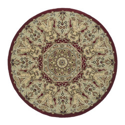 """Kaleen - Traditional Tara Rds Round 7'9"""" Round Red Area Rug - The Tara Rds area rug Collection offers an affordable assortment of Traditional stylings. Tara Rds features a blend of natural Red color. Hand Tufted of 100% Wool the Tara Rds Collection is an intriguing compliment to any decor."""
