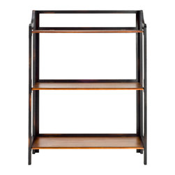 Shannon Bookshelf - Three-tiered with a mid-century shape, the Shannon Bookshelf rests on four legs with pure elegance and poise. Display your favorite classics, and then some, on a modest-sized bookshelf perfect for an office, bedroom, or study space.