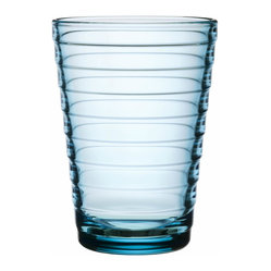 Iittala - Aino Aalto Tumbler, Set of 2, 11 Oz. Light Blue - Truly great style doesn't shout — and this classic modern tumbler is a case in point. Clean lines, delicately defined by horizontal bands, bring an easy elegance to your table.