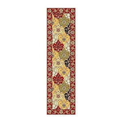 Safavieh - Diagonal Print Rug (2 ft. 3 in. x 16 ft.) - Size: 2 ft. 3 in. x 16 ft. Machine Made. Made of Polypropylene. Enjoy a unique, floor level accent with this lasting Lyndhurst collection runner rug. It's made with polypropylene for unmatched quality. Colorful floral medallions are offset diagonally for extra depth and dimension.