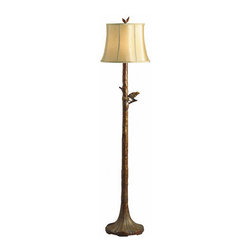 Kichler - Kichler 74138 One Light Floor Lamp from the Woodlands Collection - *Single light floor lampFeatures soft light caramel drum shade3-way turn switchRequires 1 medium base 150W max bulb