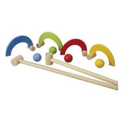 Croquet Set by Plan Toys - Croquet for the young'uns, this set is simple, modern and timeless.
