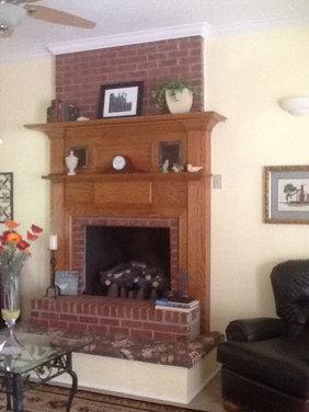 Double Mantel Fireplace