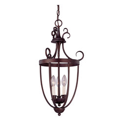 Savoy House - Savoy House 3P-80200-3-13 Entry Lantern Foyer 3 Light - Three-light open Foyer pendant with rich English Bronze finish and elegant classic styling.