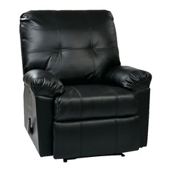 Office Star - Office Star Kensington Recliner in Black - Office Star - Recliners - KNS54BK - OSP Designs Kensington Recliner (Black). Relax in the Kensington recliner and drop all of your stress away.