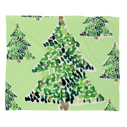 DENY Designs - DENY Designs CayenaBlanca Smells Like Christmas Fleece Throw Blanket - This DENY fleece throw blanket may be the softest blanket ever! And we're not being overly dramatic here. In addition to being incredibly snuggly with it's plush fleece material, you can also add a photo or select a piece of artwork from the DENY Art Gallery, making it completely custom and one-of-a-kind! And when you've used it so much that it's time for a wash, no big deal, as it's machine washable with no image fading. Plus, it comes in three different sizes: 80x60 (big enough for two), 60x50 (the fan favorite) and the 40x30. With all of these great features, we've found the perfect fleece blanket and an original gift!