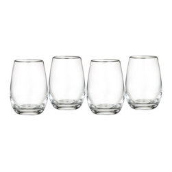 Waterford - Marquis by Waterford Vintage All Purpose Stemless Wine, Set of 4 - Clean and contemporary, the Vintage Entertaining Collection from Marquis by Waterford is characterized by modern styling and full-bodied elegance.