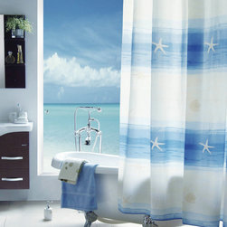 beach scenery Shower Curtain - The shower curtain is made from good quality Fabric Polyester with special process.It's excellent water resistance,good handfeeling and easy to use it.It will prettify your life with it's colorful design and make your life healthy as well as joyful.
