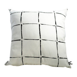 Moko & Co. - Pillow Cover - Dashes in Black and White, 18x18 - The Process: